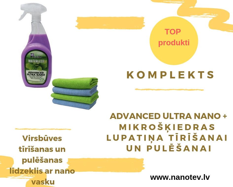 """KOMPLEKTS PEARL WATERLESS """"Advanced ultra nano"""" + lupatiņa tīrīšanai + lupatiņa pulēšanai"""