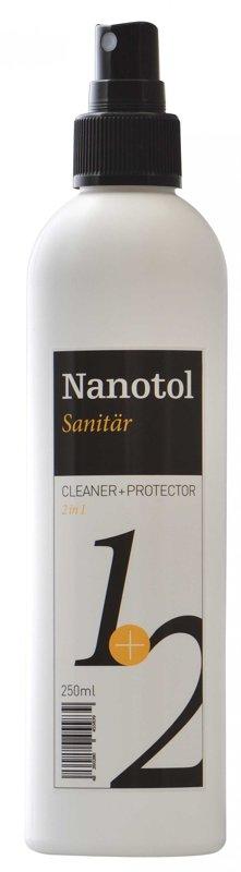 NANOTOL kaļķakmens tīrīšanas un aizsardzības līdzeklis 250ml (sanitary cleaner + protector)